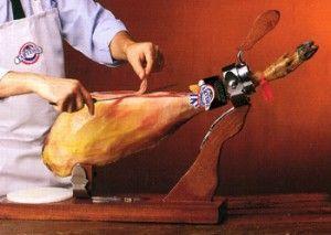 como empezar a cortar un jamon