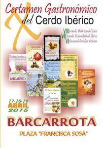 Certamen Gastronomico del Cerdo Iberico Barcarrota Badajoz
