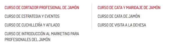 cursos Cortadores de Jamon