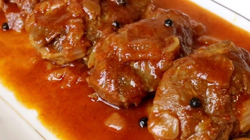 Carrillera Ibérica en salsa