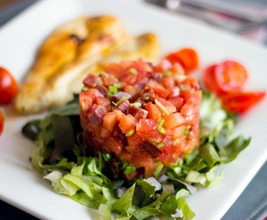 Tartar de tomate y Jamón Ibérico
